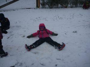 Endlich Schnee, juchee!